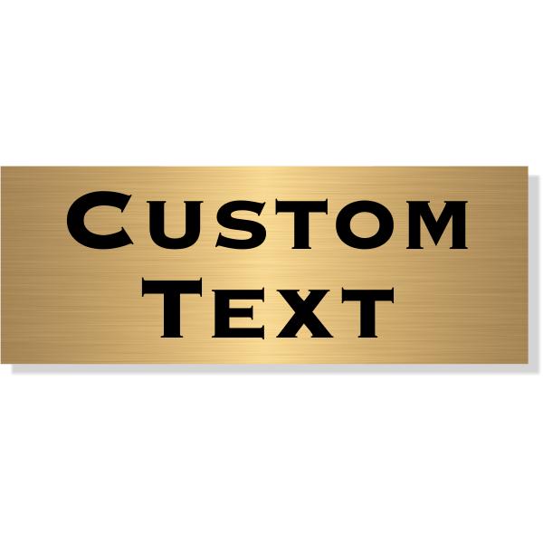 "Double Line Custom Text Brass Plate   3"" x 8"""