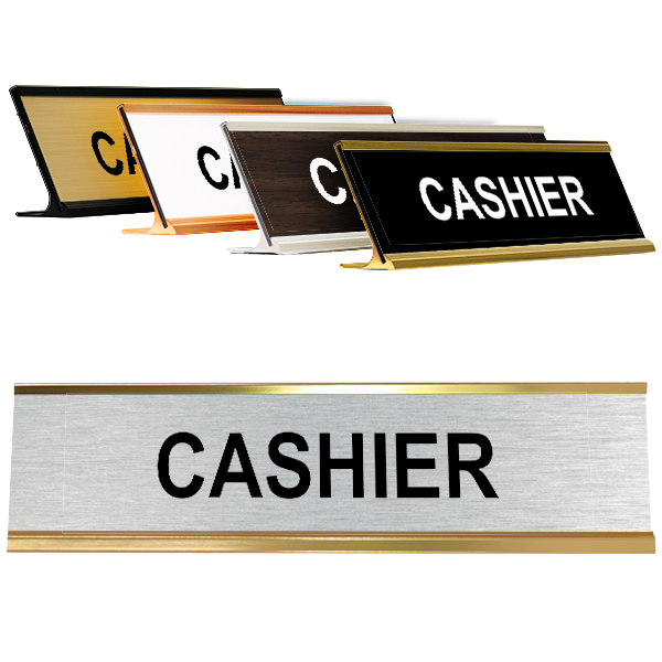 Cashier Desk Plate Silver