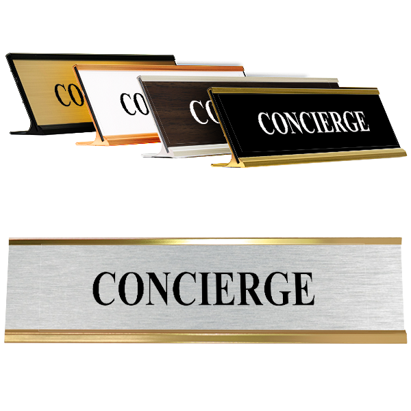 """Concierge 2"""" x 8"""" Desk Plate"""