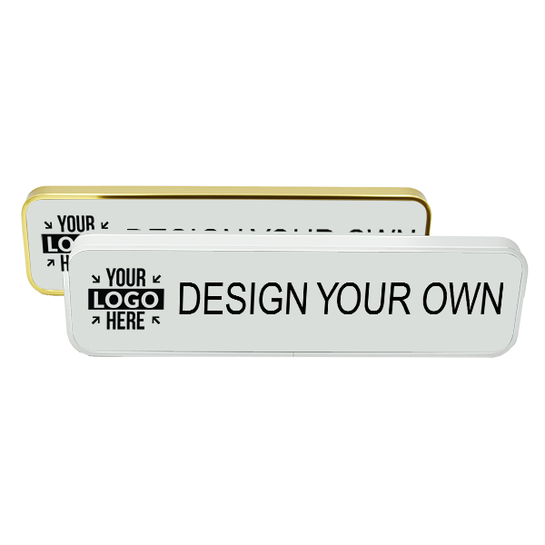 Executive Wall Nameplate Holder with Engraved Insert (Rounded Corners) 2 in x 8 in