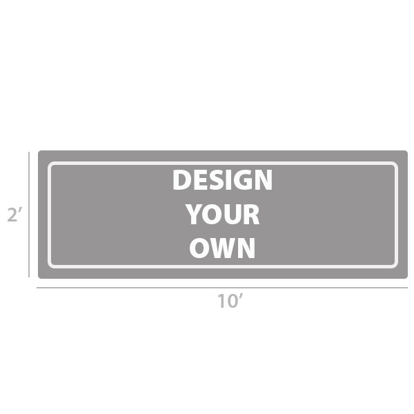 2' x 10' Custom Full Color Vinyl Banner