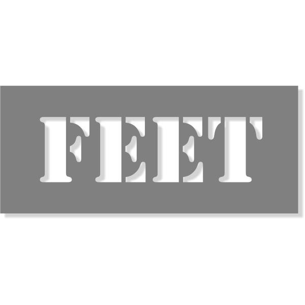 "3"" Letter Feet Stencil | 6"" x 14"""