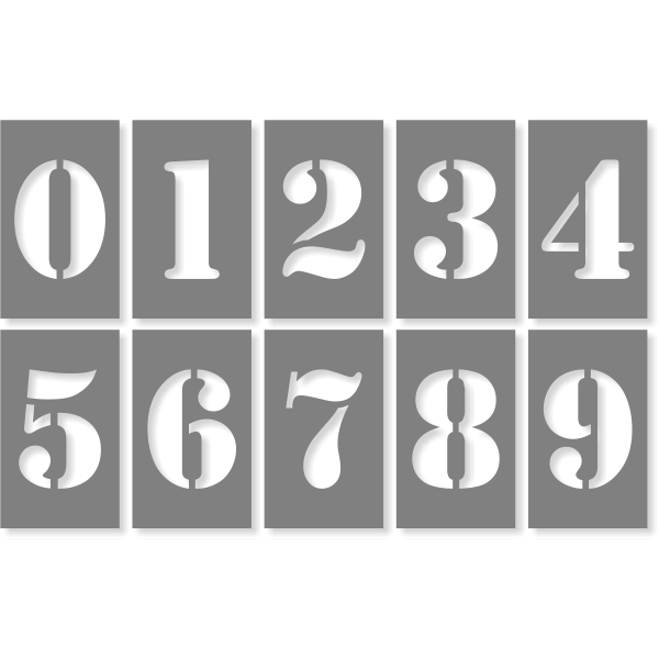 """3"""" Number Stencil Pack"""