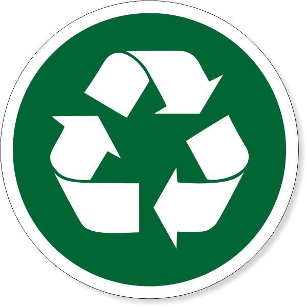 """6"""" Round Recycle Decal"""