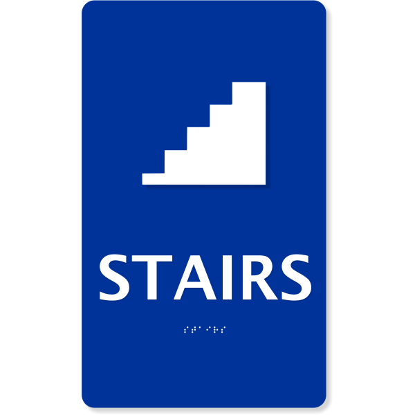 """ADA Braille Stairs Sign   10"""" x 6"""""""