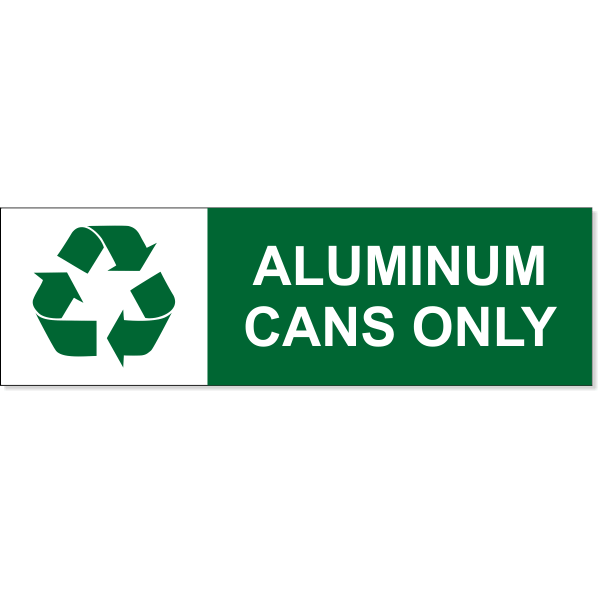 """Aluminum Can Recycle Decal   3"""" x 10"""""""
