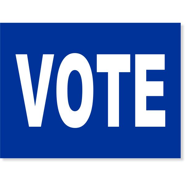 """Blue Vote Yard Sign   18"""" x 24"""""""
