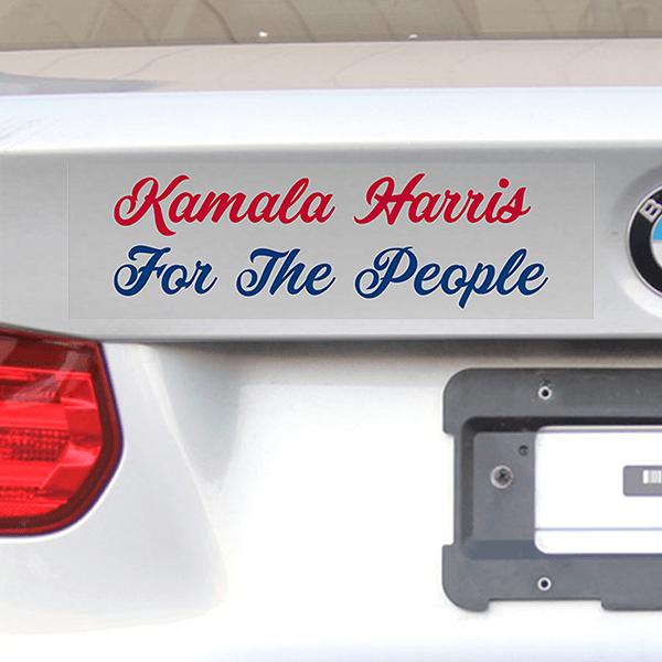 "Kamala Harris For The People Bumper Sticker | 3"" x 10"""