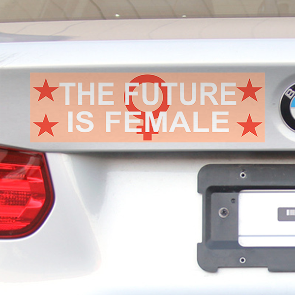 "The Future Is Female Bumper Sticker | 3"" x 10"""