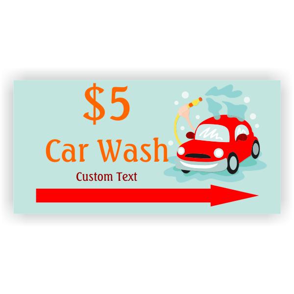 Car Spray Car Wash Banner - 3' x 6'