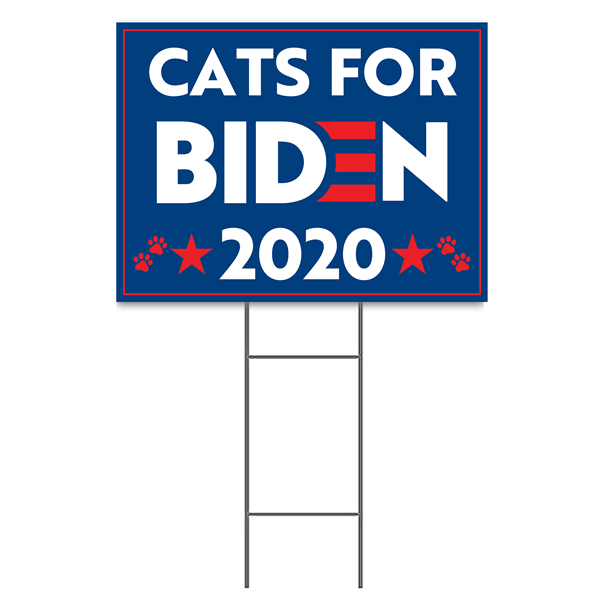 """Cats for Biden Sign 
