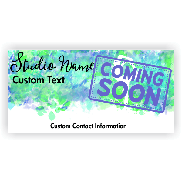 Coming Soon Yoga Studio Banner | 3' x 6'