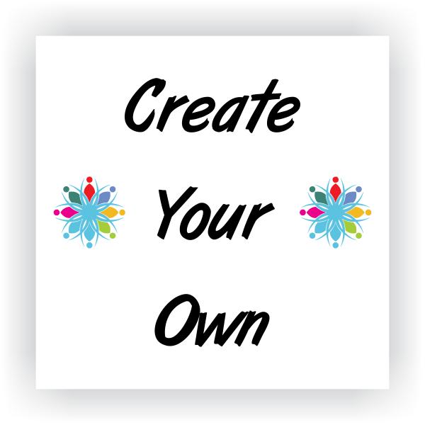 """Create Your Own 6"""" x 6"""" Vinyl Sticker"""
