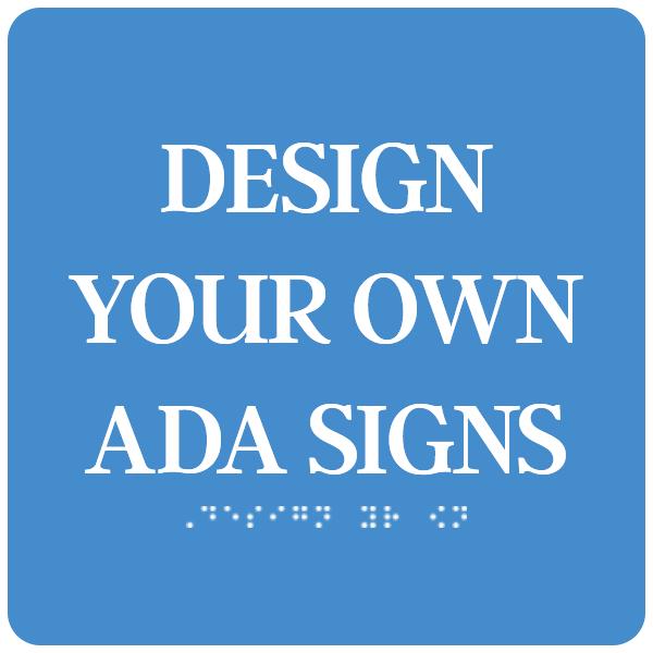 ADA Sign Square 4 in x 4 in