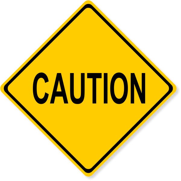 "Diamond Caution Decal | 6"" x 6"""