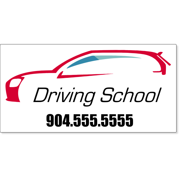 Driving School Magnetic Sign | Set of 2