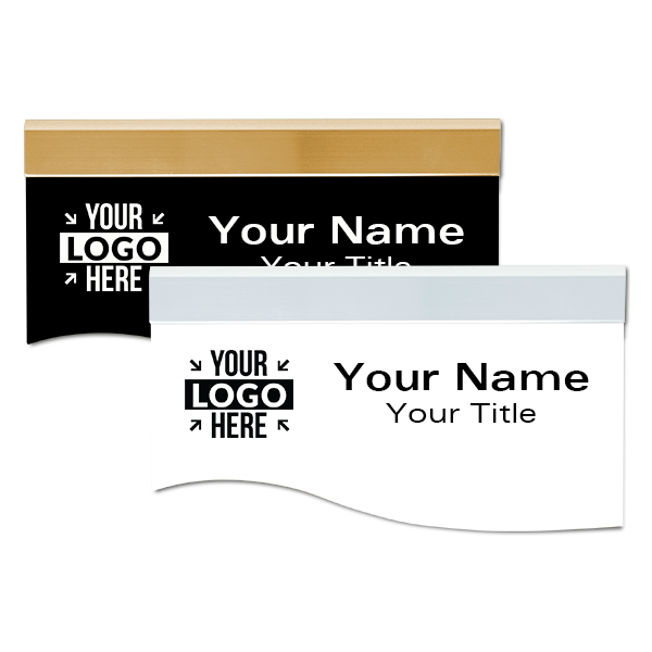 """Plastic Engraved Wave Shaped Sign Insert Only - 3.25"""" x 8"""""""