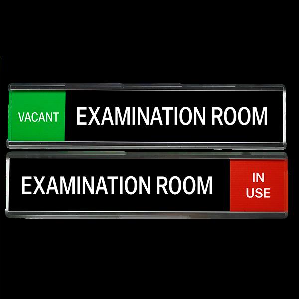 """Examination Room Slider Signs 2"""" x 10"""""""