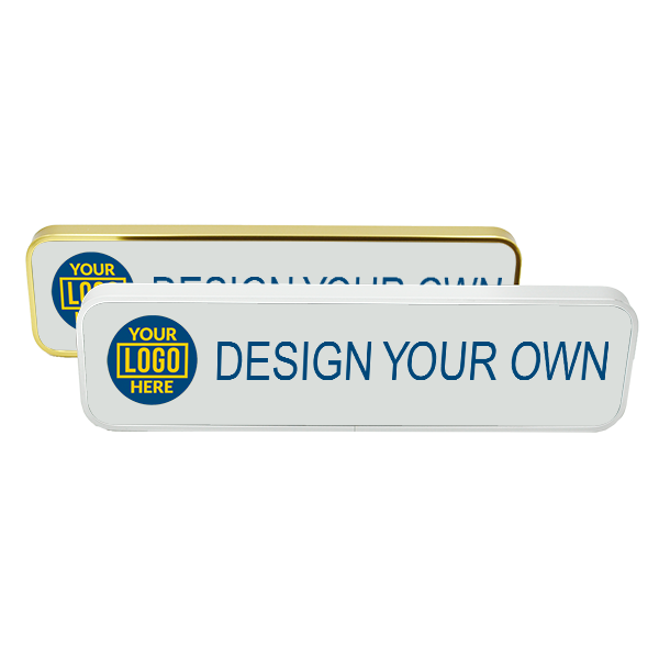 """Executive Wall Name Plate with Full Color Insert (Rounded Corners) 2"""" x 8"""""""