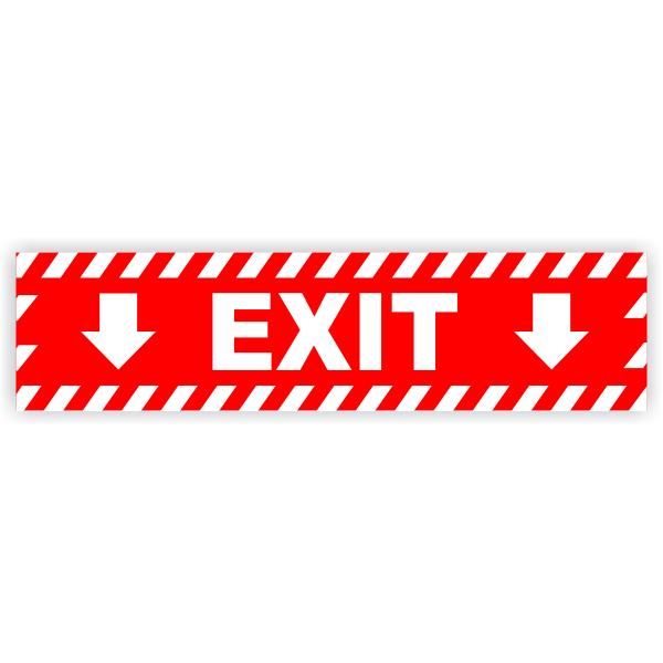 """Exit Vinyl Decal Down Arrows - 6"""" x 24"""""""