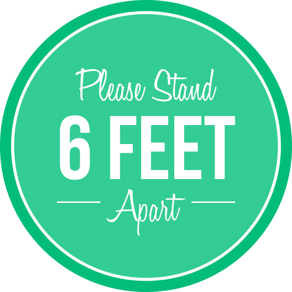 Please Stand 6 Feet Apart Business Reopening Floor Decal