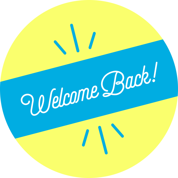 Welcome Back Script Set Business Reopening Floor Decal