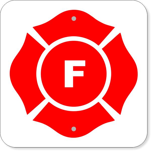 "(F) Floor Truss Construction Aluminum Sign   12"" x 12"""