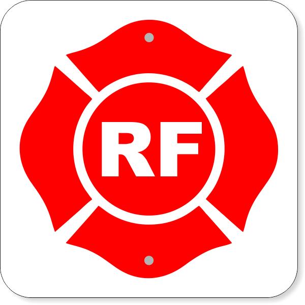 "(RF) Floor Truss Construction Aluminum Sign   12"" x 12"""