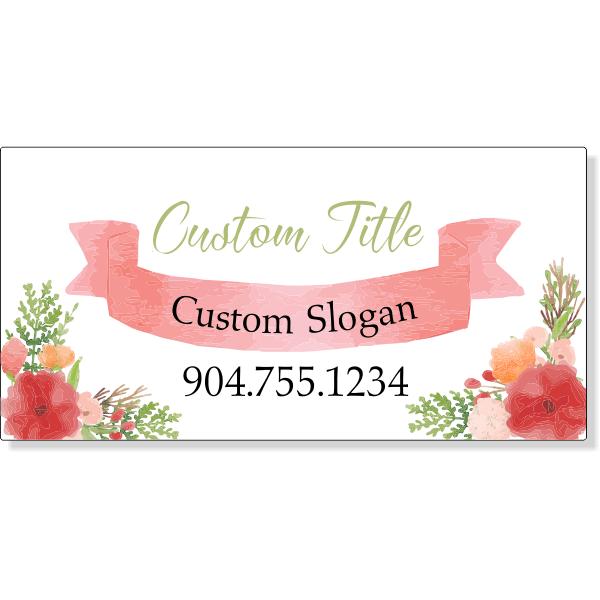Floral Studio Magnetic Sign   Set of 2