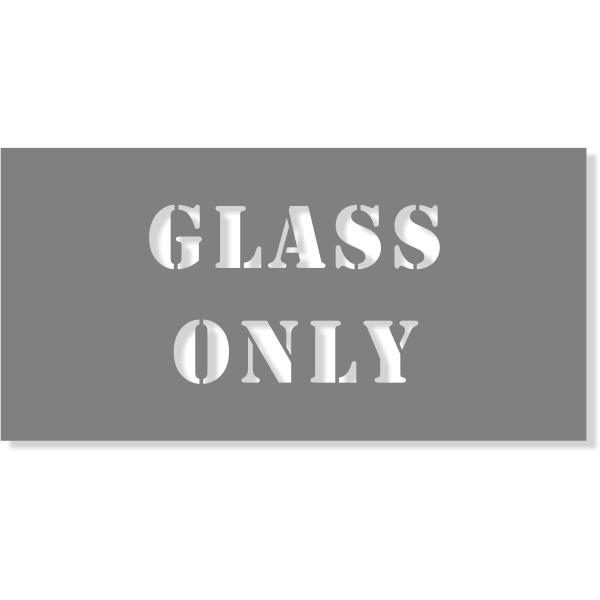 "Glass Only Stencil | 4"" x 8"""