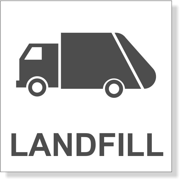 "Grey Landfill Decal | 3"" x 3"""