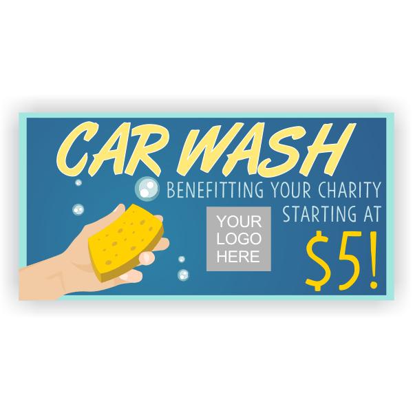 Hand Wash Car Wash Banner - 3' x 6'