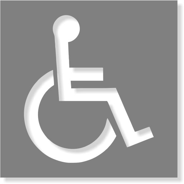 Handicapped Symbol Mylar Stencil