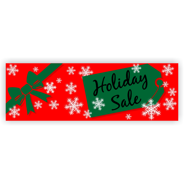 Holiday Sale Banner | 2' x 6'