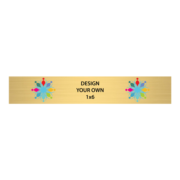 """Horizontal Full Color Brass Signs 1"""" x 6"""""""