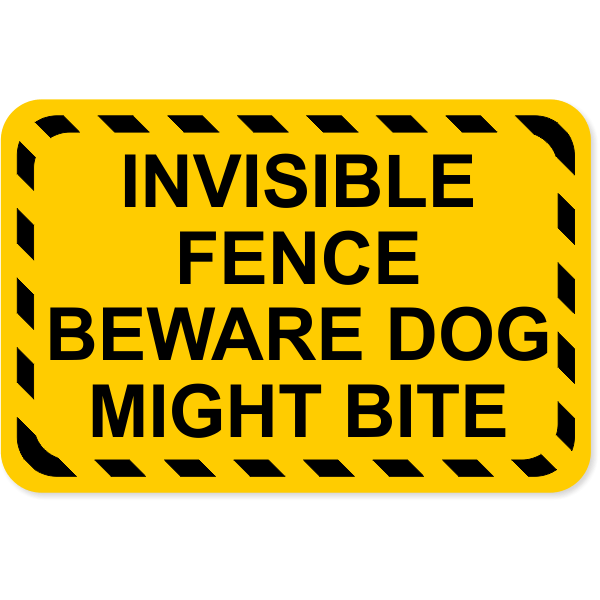 """Invisible Fence Dog Bite Decal 