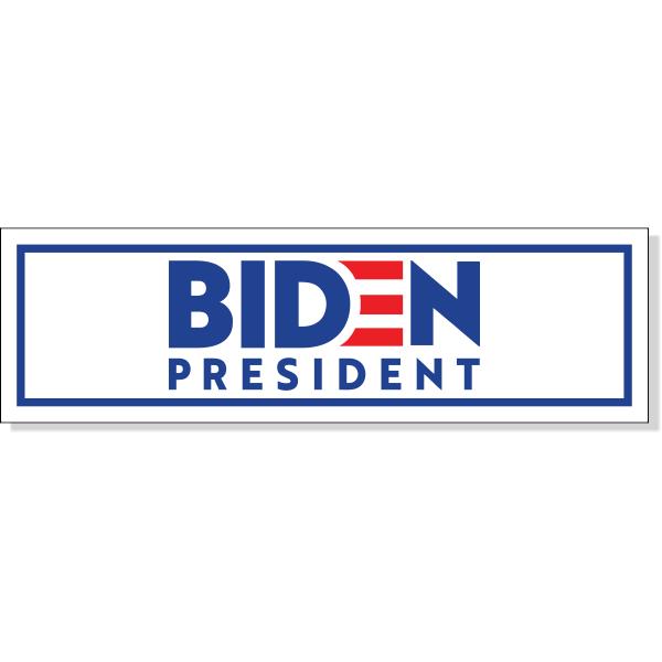 "Joe Biden Presidential Campaign Bumper Sticker | 3"" x 10"""