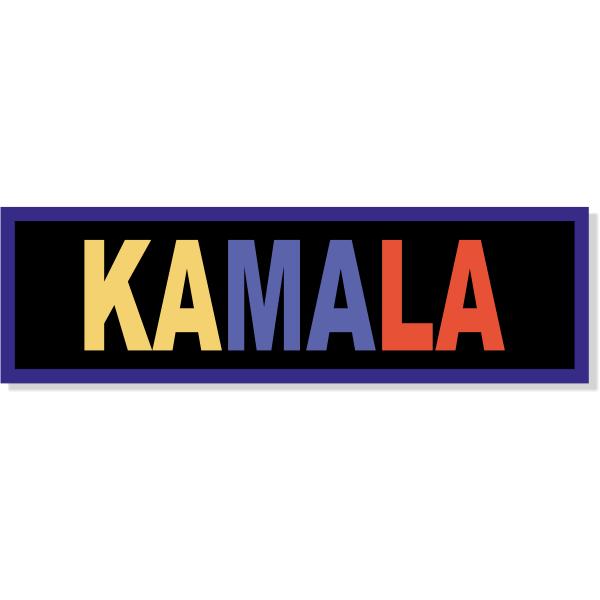 """Kamala Bumper Sticker   3"""" x 10"""""""