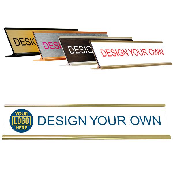 Desk Plate with Left Logo