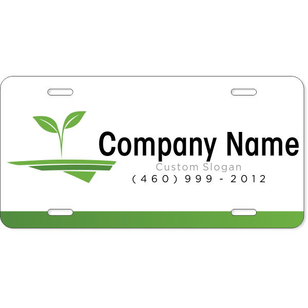Lawn Landscaping Industry Custom License Plate