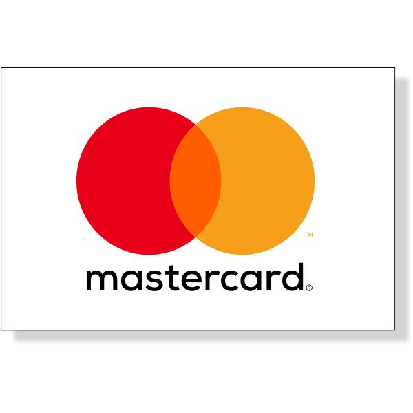 "Mastercard Decal   2"" x 3"""