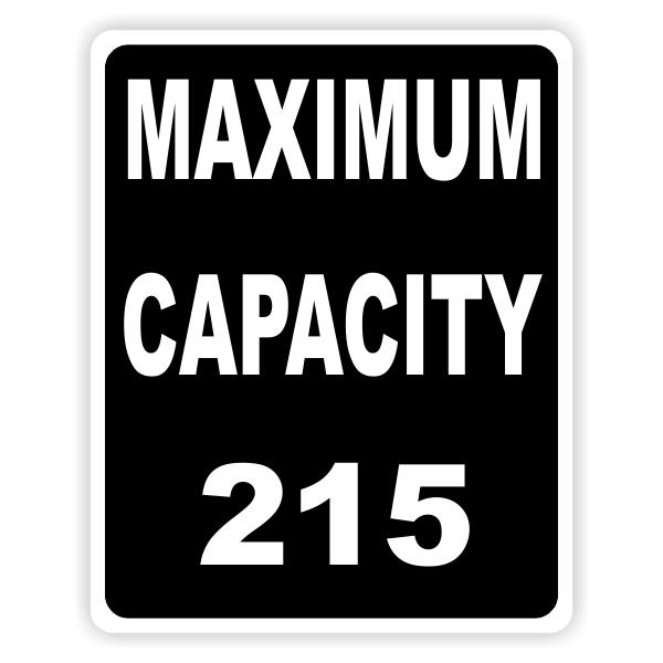Maximum Capacity Black Custom Sign