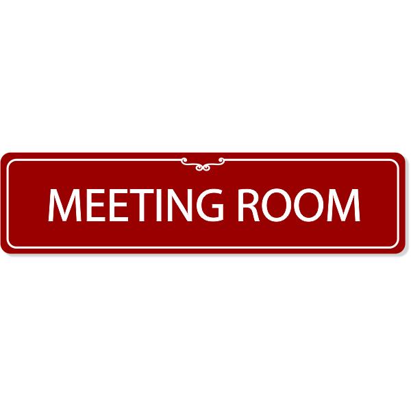 Meeting Room Decorative Sign
