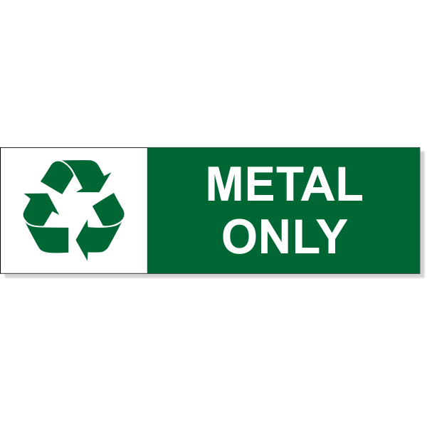 """Metal Recycle Decal   3"""" x 10"""""""