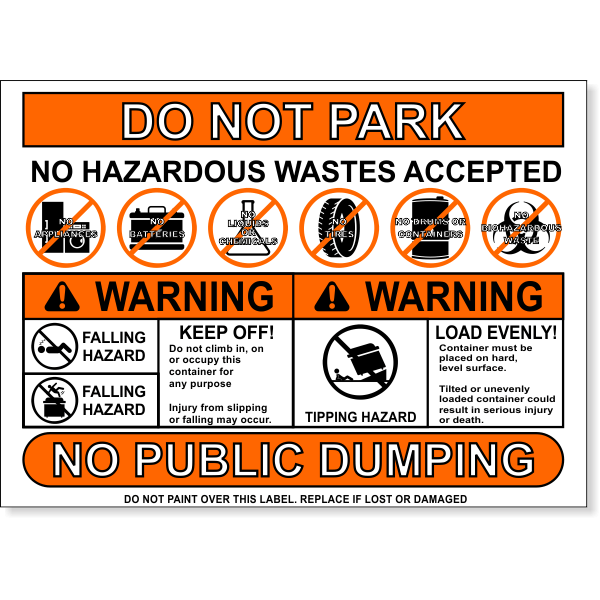 """Multi Message Container Safety Decal 
