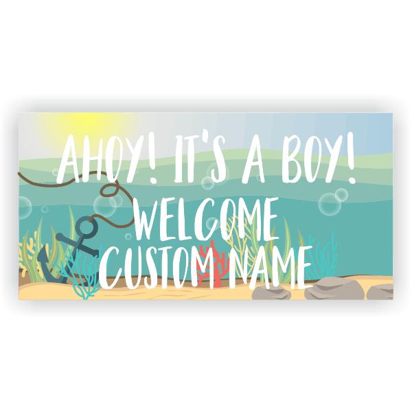 Nautical Baby Shower Banner - 3' x 6'