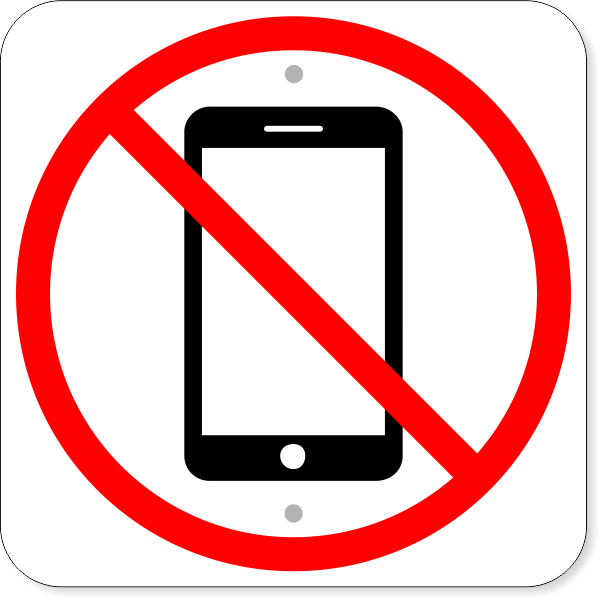 """No Cell Phone Aluminum Sign 