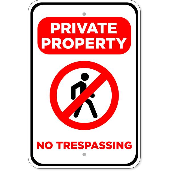 "No Trespassing Private Property Aluminum Sign | 18"" x 12"""