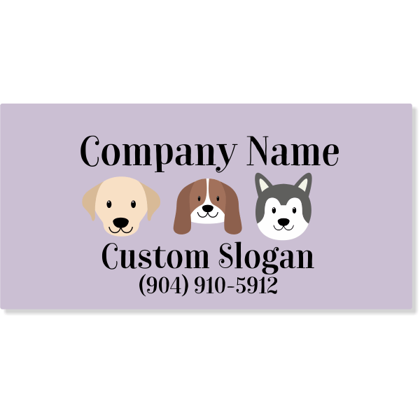 Pet Grooming Magnetic Sign   Set of 2