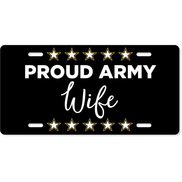 Proud Military Custom License Plate